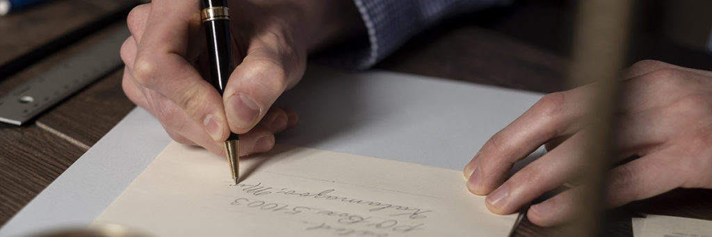 Handwriting on an envelope