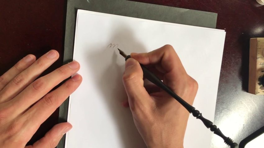 Screenshot from what it means to write with your arm video