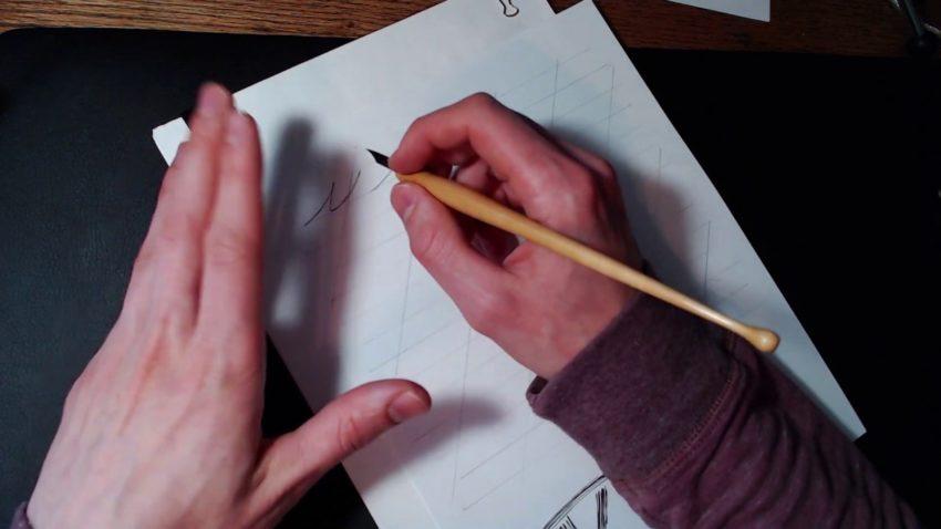 Screenshot from lowercase i handwriting video