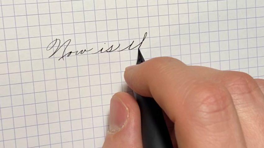 Screenshot from handwriting video